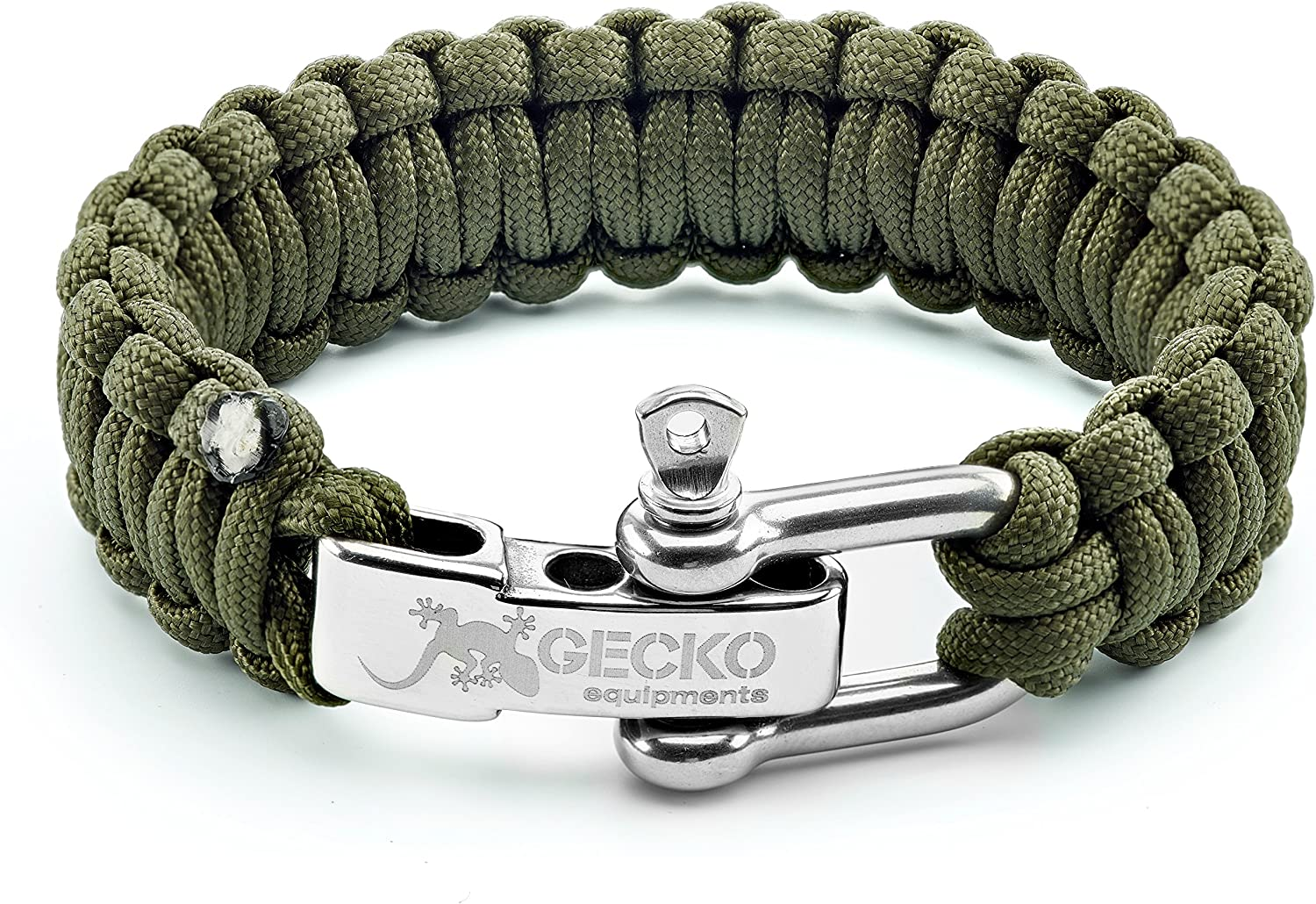 Desert Camo R6X6 Survival Bracelet with Stainless Steel Bow Shackle
