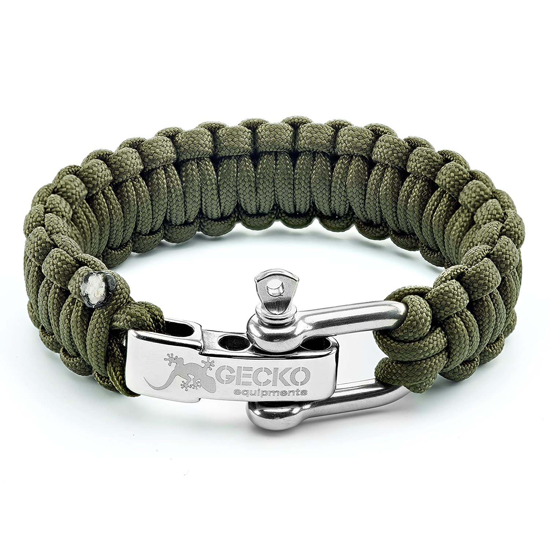 Amazon Gecko Equipment Army Green Paracord Survival Bracelet