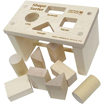 Shape Sorter Bench - Made in USA : Baby Shape And Color Recognition Toys : Baby