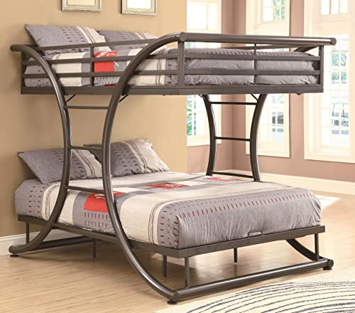 Stephan Full over Full Bunk Bed Gunmetal