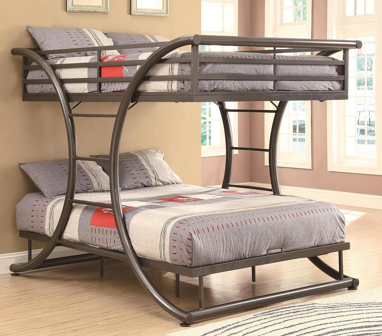 Amazon.com: Coaster Home Furnishings 460078 Bunk Bed, Gunmetal: Kitchen &  Dining