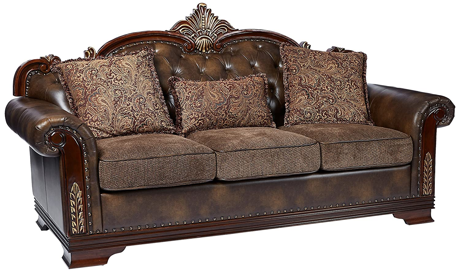 Homelegance 9815-3 Croydon Traditional Two-Tone Sofa
