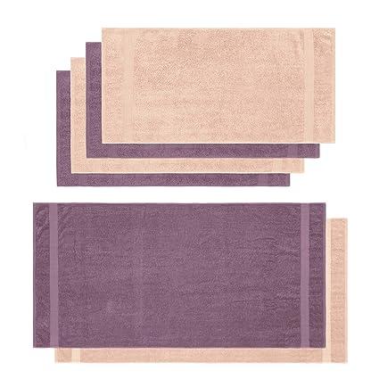 Lumaland Premium Set 4 Toalla de Manos (50 x 100 cm) + 2 Toallas