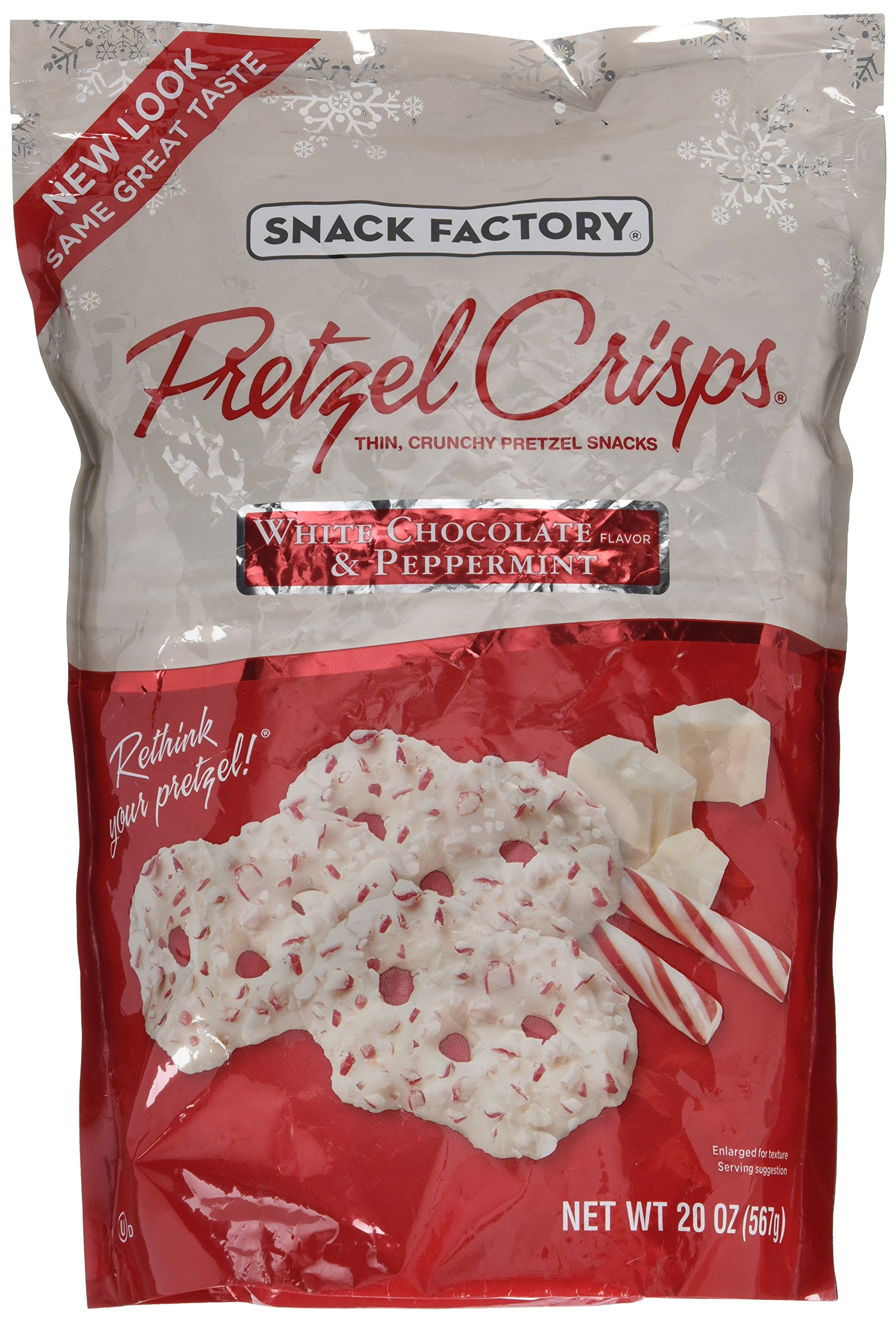 Snack Factory Pretzel Crisps White Chocolate Peppermint Flavor