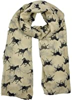 Ladies Women's Horse Print Scarf Wraps Shawl Soft Scarves