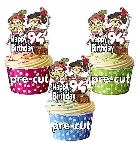 PRECUT- Decoraciones comestibles para cupcakes, diseño de ...