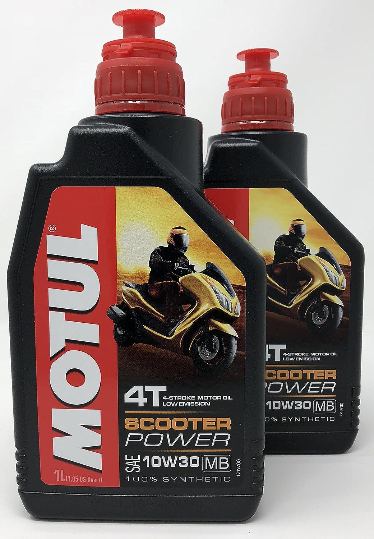 MOTUL Aceite 4 Tiempos Moto Scooter Power 4T 10W-30 MB, 2 Litro (2X 1 lt): Amazon.es: Coche y moto