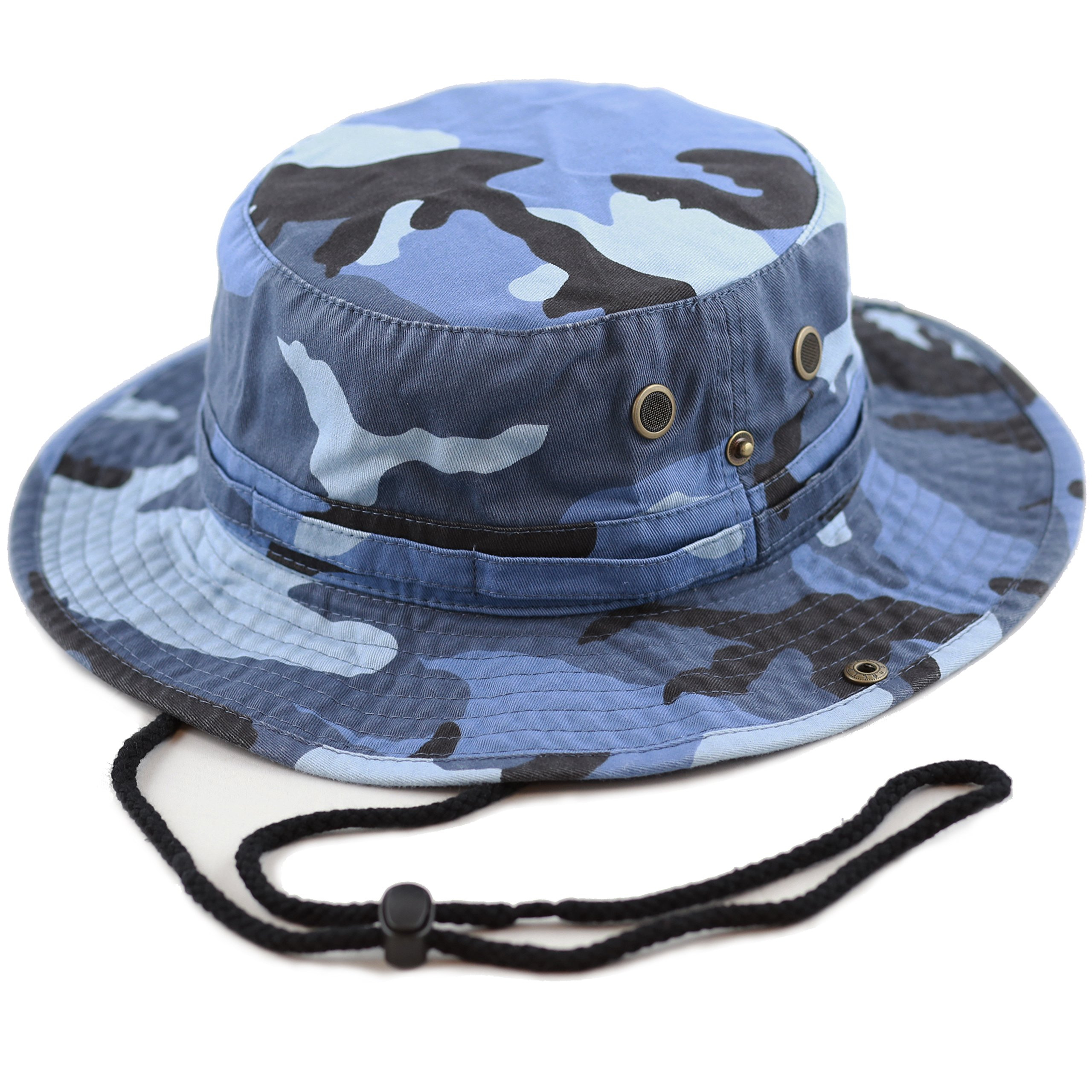 Unisex Summer Outdoor Packable Camouflage Bucket Hat (L/XL, Bluesky camo) by THE HAT DEPOT