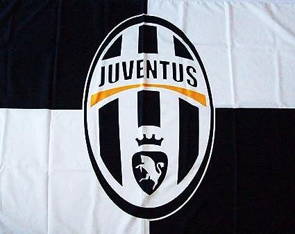 BANDIERA JUVENTUS JUVE UFFICIALE grande cm.100x140 FLAG OFFICIAL   Amazon.it  Sport e tempo libero 1340a8e33d8