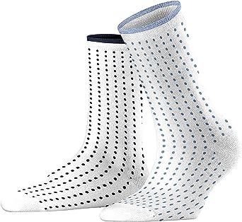 Esprit Damen Socken Tiny Dot 80 Baumwolle 1 Paar Versch Farben Größe 35 42 Damenstrümpfe Im Doppelpack Mit Pünktchenmuster Und Streifen Am Bund Bekleidung