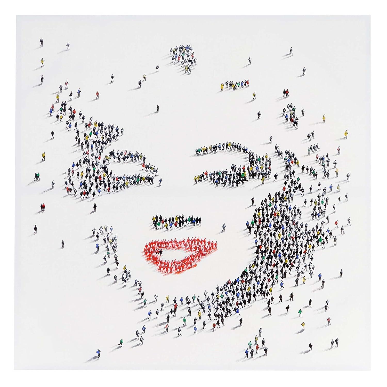 Ölgemälde Marilyn + Menschen, 100% handgemaltes Wandbild Gemälde XL ...