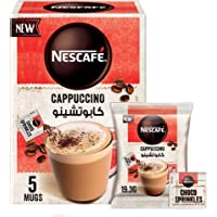 Nescafe Cappuccino Foamy Coffee Mix with Chocolate Sprinkles 19.3g (5 Sachets)