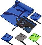 Asciugamano microfibra in TUTTE le taglie / 12 colori - piccolo, leggero e super assorbente – asciugamano palestra, asciugamano bagno, asciugamani grande gym