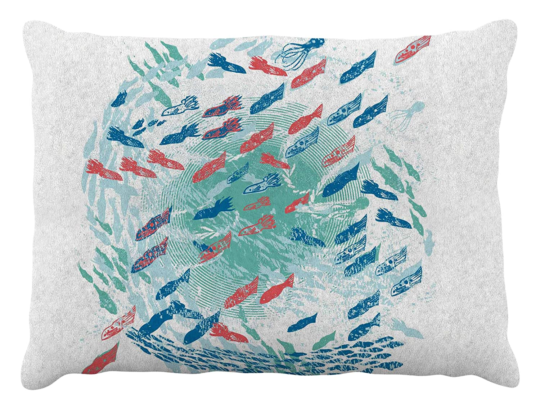 Kess InHouse Frederic Levy-Hadida Predation Instinct  Multicolor Cat Fleece Dog Bed, 30 by 40