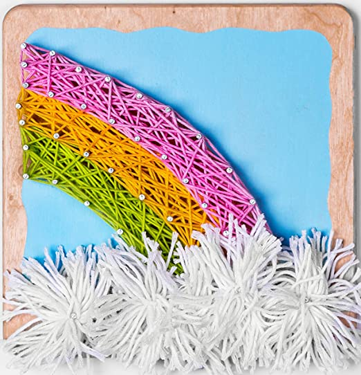 Bigger Size Canvas Fornel String Art Kit Unicorn DIY Unicorn Art String Crafts for Girls Kids Teens Ages 8-15