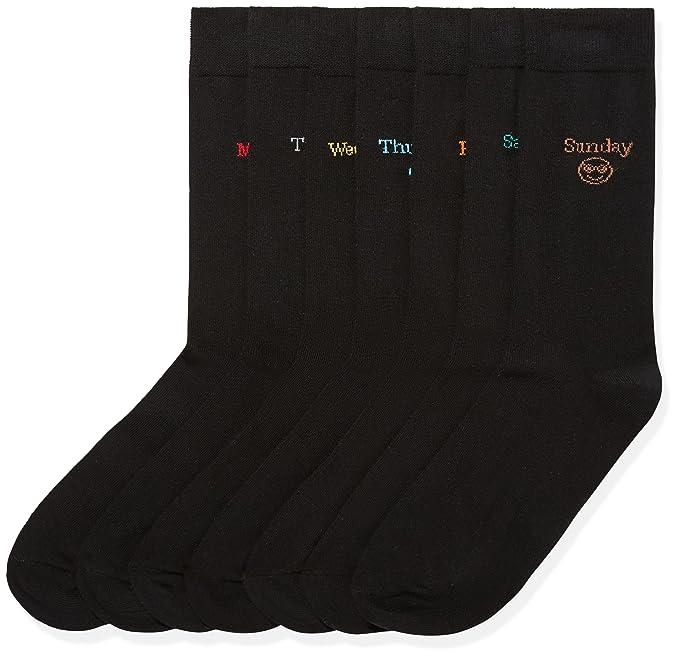 FIND Calcetines con los Días de la Semana Hombre, Pack de 7