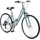 Critical Cycles Barron 21 Speed Lady's Hybrid Bike with Step-Thru Frame, Powder Blue