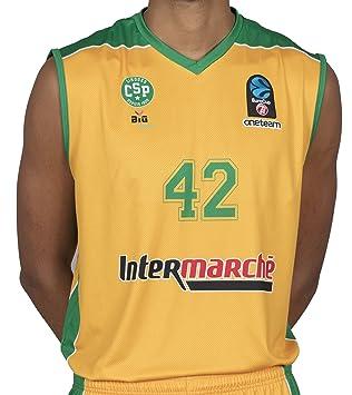 Bigsport Replica Howard Eurocup Limoges CSP hogar - Camiseta de Baloncesto para Hombre, Hombre, Color Amarillo, tamaño XXL: Amazon.es: Deportes y aire libre