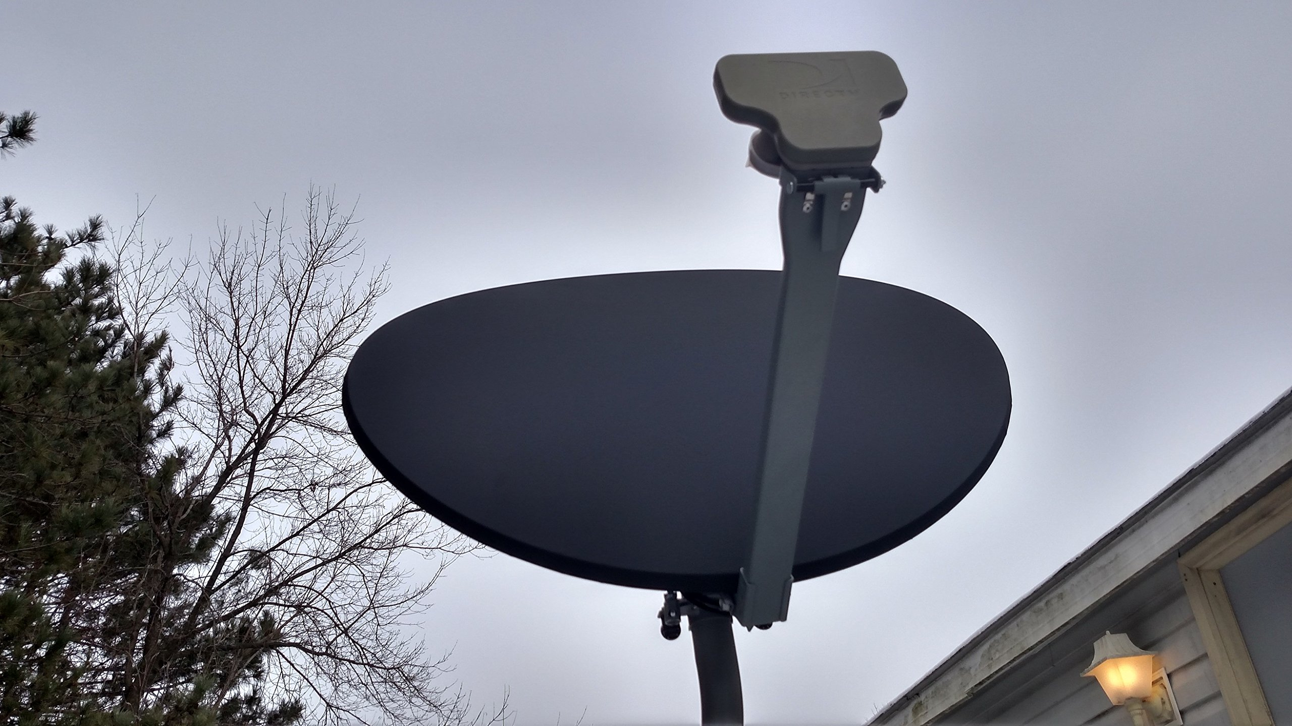 (BLACK) Satellite Dish Cover - Snow and Ice Protection for Directv, Dish Network, Shaw Direct, and Bell by Dish Armor