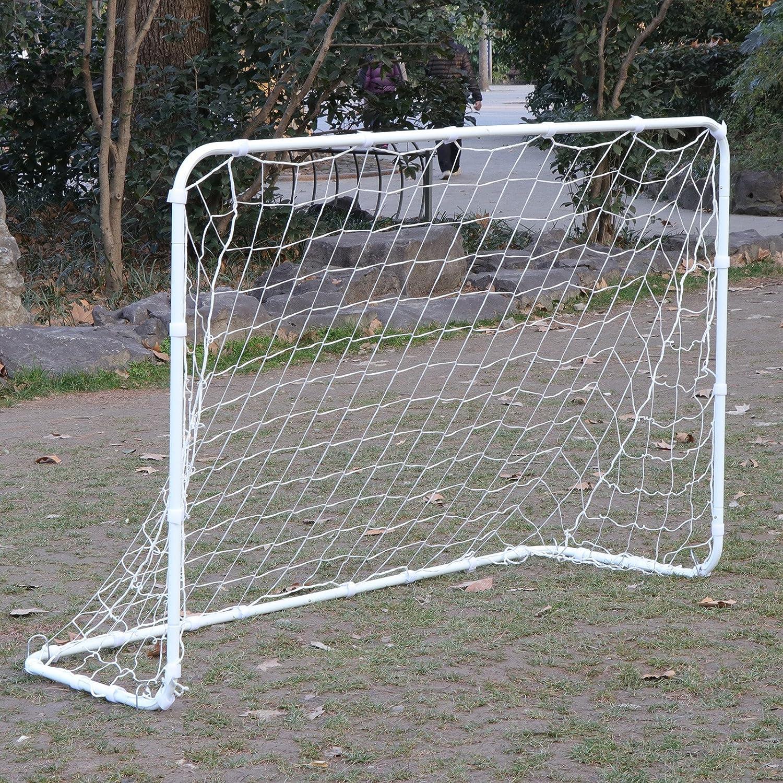 HomGarden 6 x 4 Portable Soccer Goal Net Football Post Target Net Tournament Regulation Training Aid Ultimate Backyard Outdoor Kids Soccer Goal