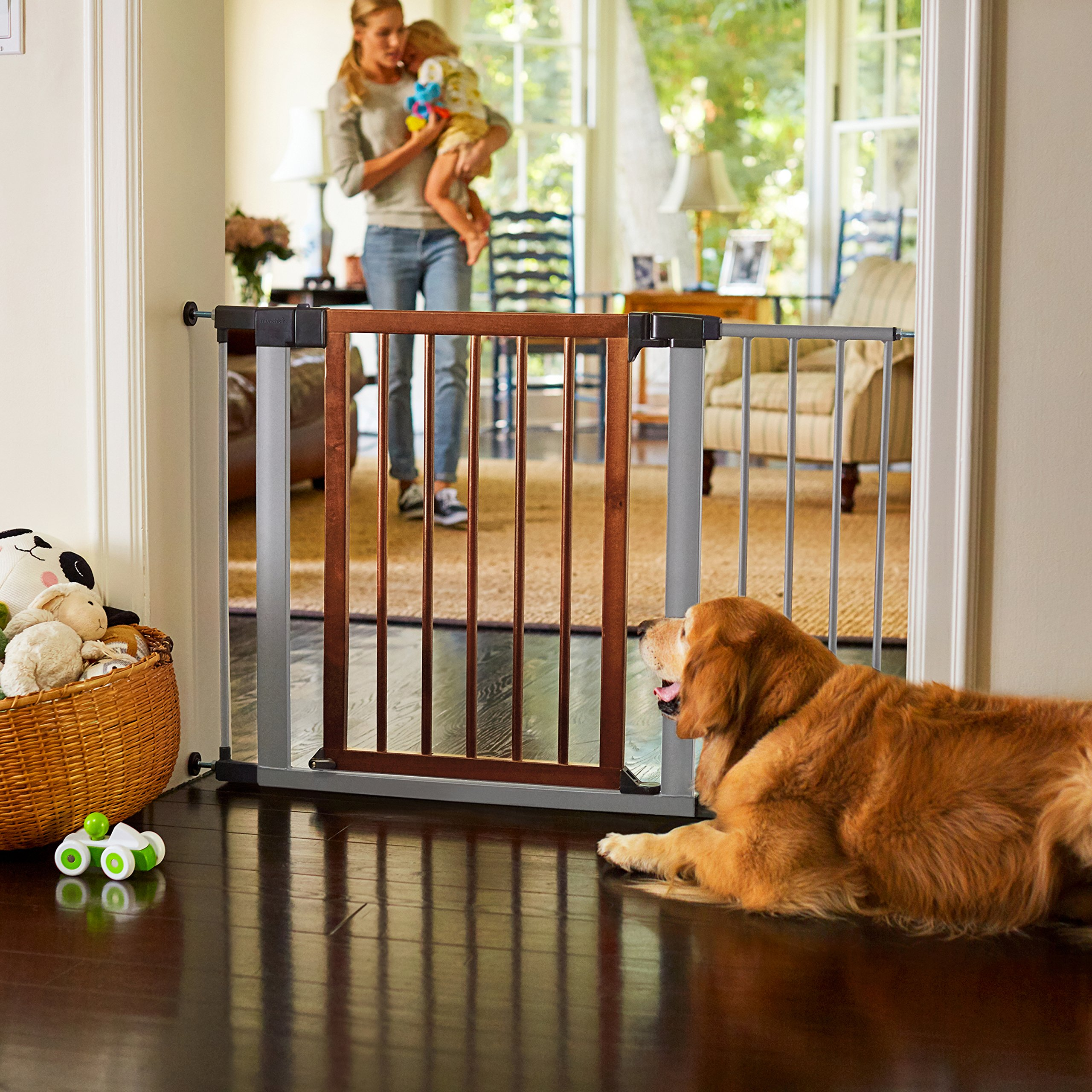 Munchkin Wood And Steel Baby Gate Extension 5 5 34486 Gates