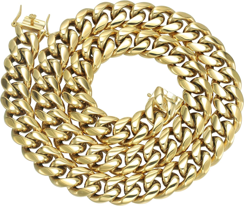 Mens 18mm 14k Gold Plated Heavy Thick Cut Hip Hop Bracelet Cuban