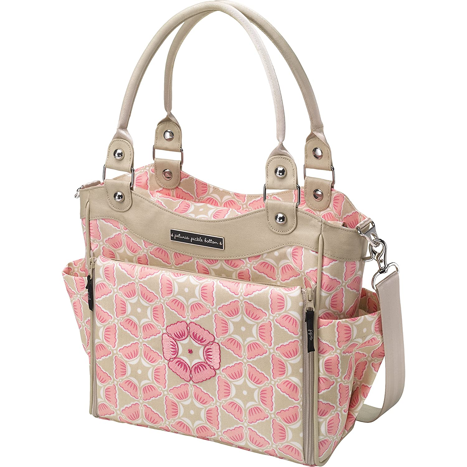 Amazon.com   Petunia Pickle Bottom City Carryall Diaper Bag in Blooming in  Brixham   Baby 61422e5251318