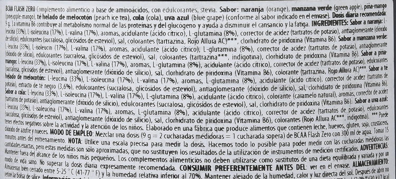 Biotech Bcaa Flash Zero Aminoácido Manzana - 360 gr: Amazon.es: Salud y cuidado personal