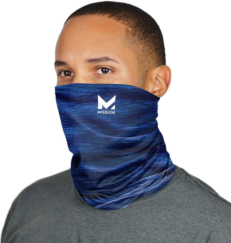 Ways To Wear MISSION Enduracool GAITER  CORAL ORANGE NWOT Face Mask Cooling 12