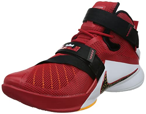 half off d3638 ad9bd best price nike kids lebron soldier ix gs university red black team red  white b2e0f 2940c
