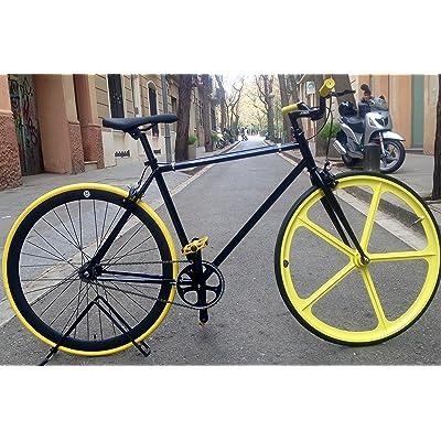 Vélo monomarcha Single Speed FIX-5classic Blackyellow taille 50cm