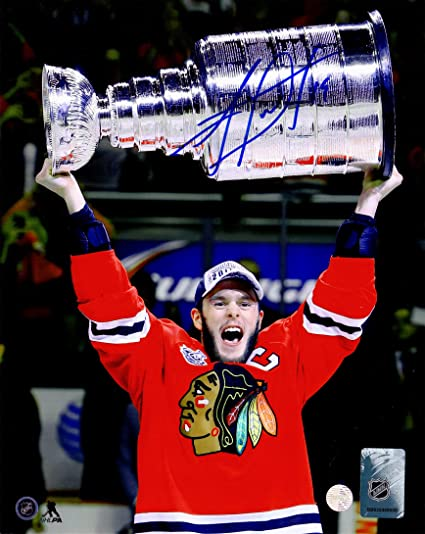 Image Unavailable. Image not available for. Color  Jonathan Toews Signed Chicago  Blackhawks 2015 ... a9b1ce4b1