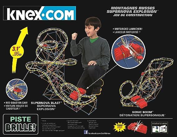 Amazoncom Knex Supernova Blast Roller Coaster Building Set Toys