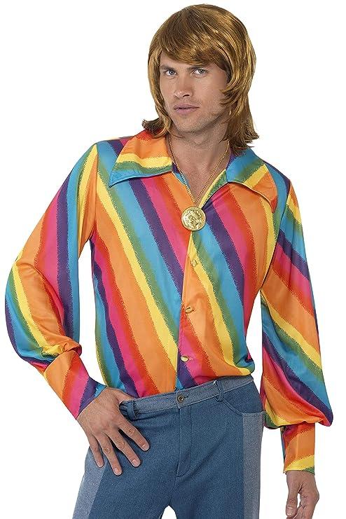 Smiffys Maglietta color arcobaleno anni  70  Amazon.it  Giochi e ... 99abebe34ad
