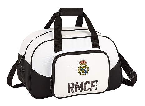Real Madrid 711854273 2018 Bolsa de Deporte Infantil 40 cm, Blanco