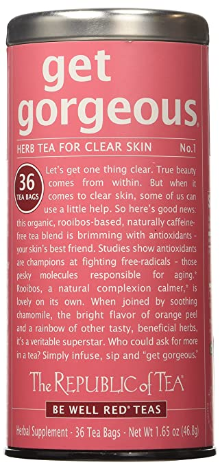 Amazon.com : The Republic of Tea Get Gorgeous Tea, 36-Count ...