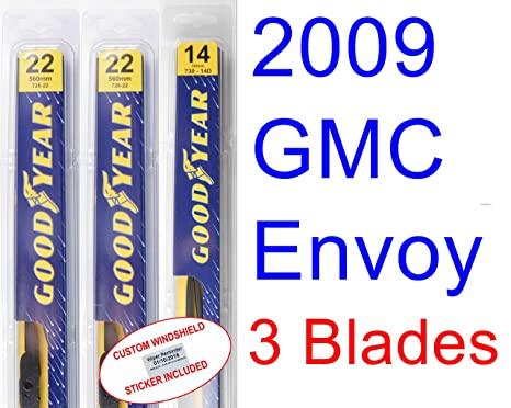 2009 GMC Envoy Denali hoja de limpiaparabrisas de repuesto Set/Kit (Goodyear limpiaparabrisas blades