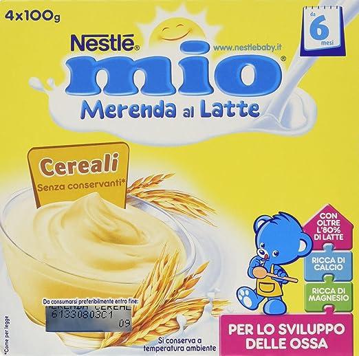 19 opinioni per Nestlé Mio- Merenda al Latte Cereali, da 6 Mesi- 3 confezioni da 4 Vasetti di