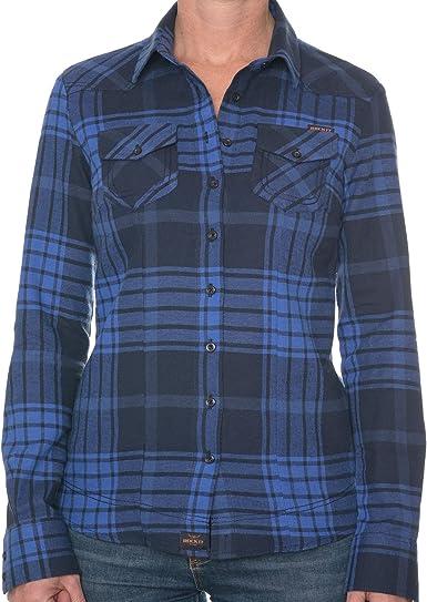 ROCK-IT Apparel® Camisa de Franela Mujer Camisa de leñador a Cuadros en Tallas Europa S-XL Color Azul/Negro: Amazon.es: Ropa y accesorios