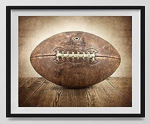 Vintage Football on Vintage Background Fine Art Photography Print, Sports Decor, Football Nursery decor, Vintage Sports Nursery Art, Football artwork, Football Prints, Kids Room Wall Art.