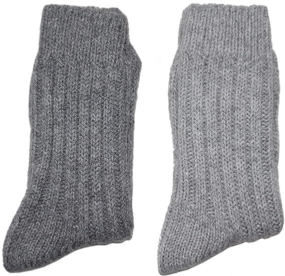 warme dicke Wollsocken ohne Gummi Norwegersocken