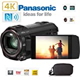 Panasonic 4K Wireless Twin Camcorder / Camera Hybrid with Leica 20X Optical Lens, WiFi , NFC, HDR Movie, Night Mode includes Quality branded semi hard case