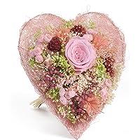 Bouquet-Cuore- Sanremo fiori essiccati dalla Riviera dei Fiori con rosa stabilizzata