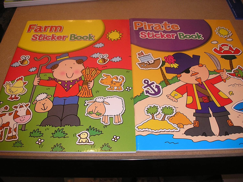 FARM//PIRATE STICKER BOOKS A4 SIZE STICKER BOOK FOR KIDS 3+