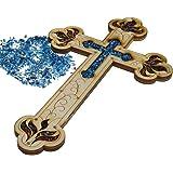 "Wall Wood Cross Vintage Jerusalem Gemstones Antique Style Decor 11"" by ChristianityWorld"