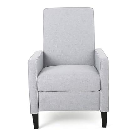 Outstanding Amazon Com Contemporary Dalton Fabric Recliner Club Chair Customarchery Wood Chair Design Ideas Customarcherynet