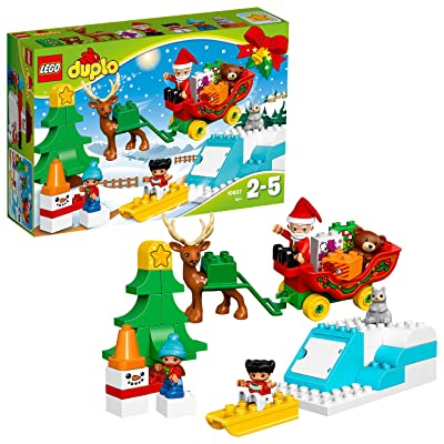 LEGO DUPLO Town Santa's Winter Holiday Building Kit (45 Piece): Toys & Games