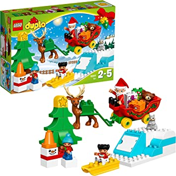 Duplo Noel Amazon.com: LEGO DUPLO Town Santa's Winter Holiday Building Kit