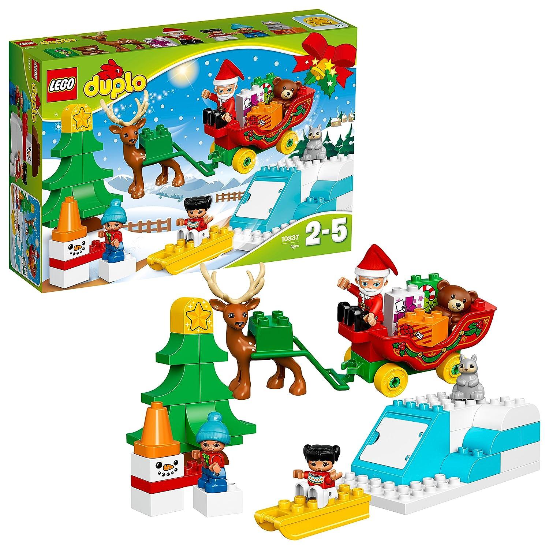 LEGO DUPLO - Les vacances d'hiver du Père Noël - 10837 - Jeu de construction
