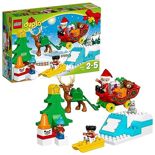 LEGO 10837 DUPLO Town Santa's Winter Holiday  Building Kit (45 Piece)